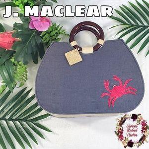 PUTU by J. Maclear burlap tote crab Purse bag
